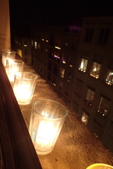 Candles on H&L window ledge
