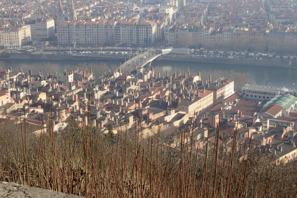 Looking down to the Saône