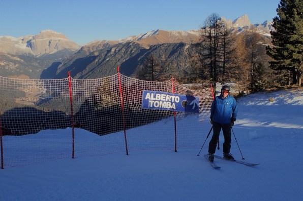 A Black Run named for a very famous Italian ski racer