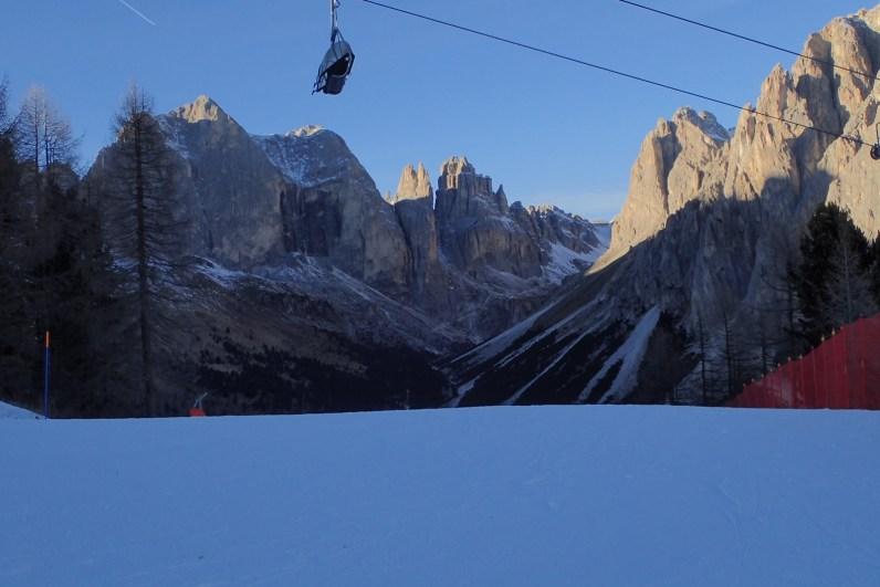 Stunning scenery at the Ciampedìe ski area