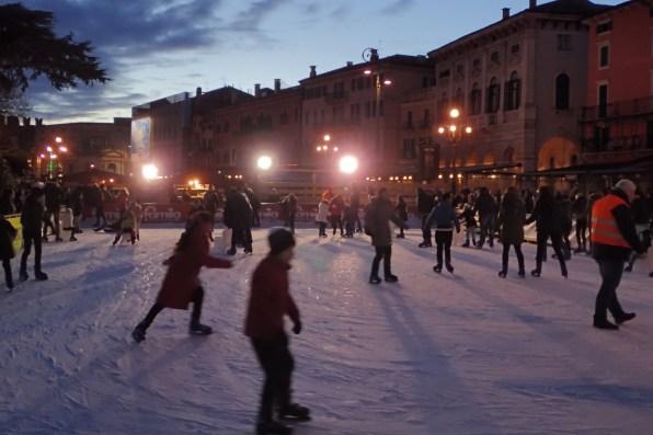 Ice skating in Piazza Bra