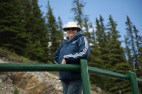 Judi at the top of the chair lift on Mt Norquay