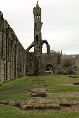 15 St Andrews Cathedral and line of old pillars