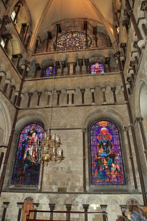 Canterbury Cathedral - outer wall with stained glass windows