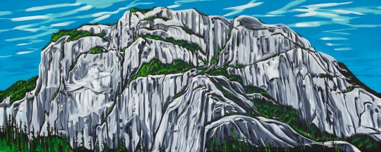 Chief Boat Launch, size 24x60 in., canvas giclée print available in original size as limited edition print