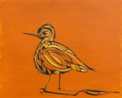 Birdie, size 16x20 in., original sold, canvas giclée print available in size R4