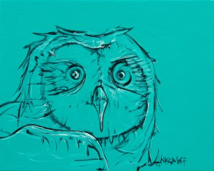 Owl Portrait 1, size 16x20 in., original available $665, canvas giclée print available in size R2