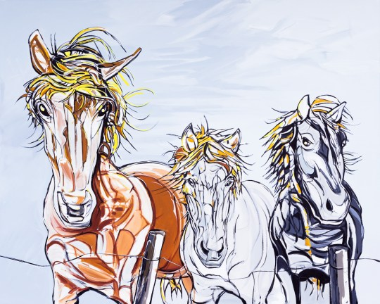 Islandic Ponies, 40x32 in., canvas giclée print available in original size as limited edition print