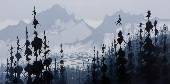 Tantalus Range, size 72x36 in., original sold, canvas giclée print available in size L1,L2,L4,L5