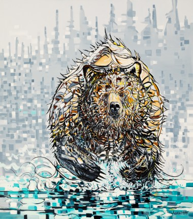 """Run, size 74x84in., original not available, canvas giclée print available in special size: SP0 30""""x36"""" $795, SP1 42""""x46"""" $1295, and SP3 50""""x58"""" $1695 (limited to 28); - --> the size 48""""x48"""" (limited to 28) is sold out - thank you everyone"""