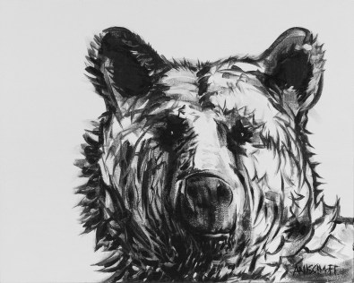 Neutral Bear, size 16x20 in., canvas giclée print available in size R4