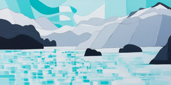 Sunshine Coast, original size 36x72 in., original sold, canvas giclée print available in sizes L1,L2,L4,L5,L6