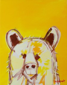 Electro Bear, original size 16x20 in., original sold, canvas giclée print available in sizes R4