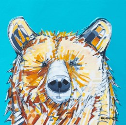Crystal Bear, original size 24x24 in., original not available, canvas giclée print available in sizes S1,S2,S3