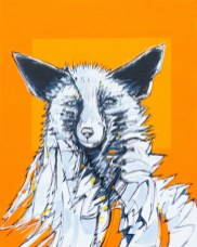 Fox, original size 16x20 in., original sold, canvas giclée print available in sizes R2,R4