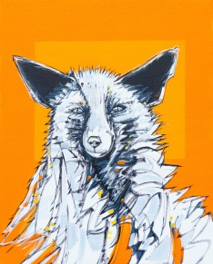 Fox, original size 16x20 in., original $895, canvas giclée print available in sizes R2,R4
