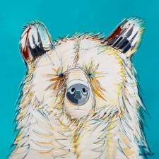 Portrait Bear, original size 48x48 in., original sold, canvas giclée print available in sizes S1,S2,S3,S4,S5,S6