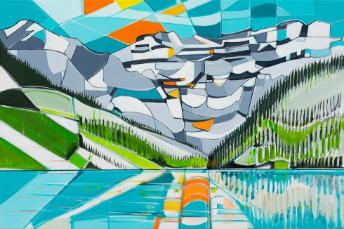 Lake Louise, size 24x36 in., original sold, canvas giclée print available in size R5