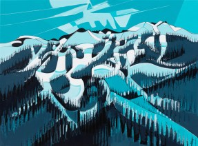 Blueberry2Blackcomb series #2, original size 43x58 in., original $4500, canvas giclée print available in sizes R1,R3,R6