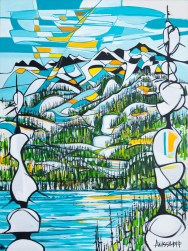 Blackcomb, size 36x48 in., original sold, canvas giclée print available. in size R1,R3,R6,R7