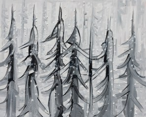 Blizzard, original size 24x30 in., original available $1400, canvas giclée print available in size R2,R4
