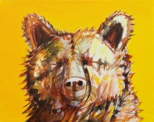 Honey Bear, original size 16x20 in., original not available, canvas giclée print available in size R2,R4