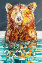 Reflection Bear, original size 48x72 in., original sold, canvas giclée print available in size R0,R5,R9,R11