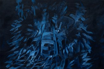 Shadow Bear, original size 24x36 in., original sold, canvas giclée print available in size R5