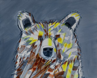 Portrait Bear study, original size 12x48 in., original $900, canvas giclée print available in sizes R2,R4