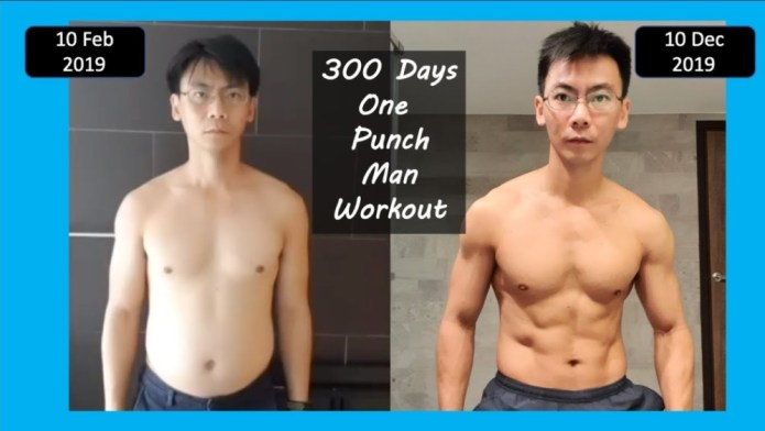 Saitama Training Results - One Punch Man Workout Challenge Actually Works In Real ...