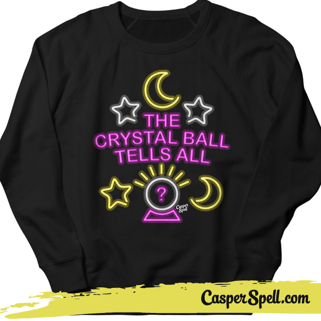Neon Psychic Sign Crystal Ball Reader Readings Gypsy Tells All Shirt Apparel Casper Spell