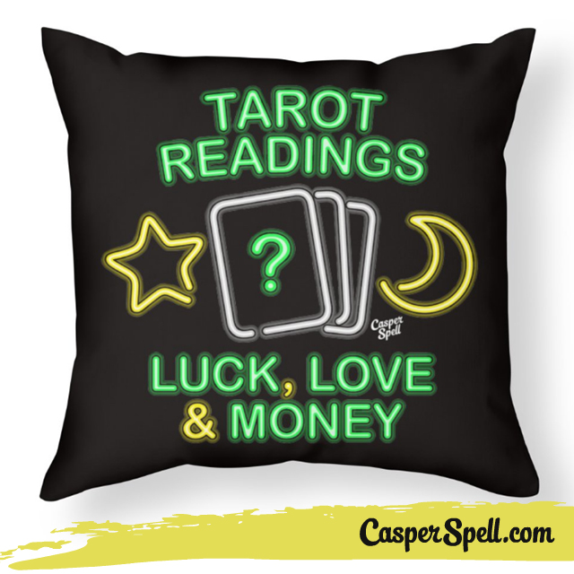 Neon Psychic Sign Tarot Reader Readings Fortune Teller Shirt Apparel Casper Spell