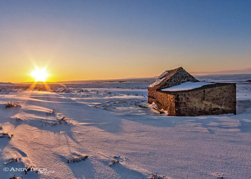 Last rays of the sun, Gilmonby Moor