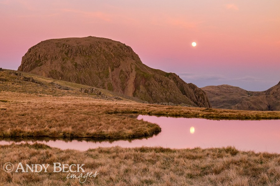 Moonrise behind Great Gable
