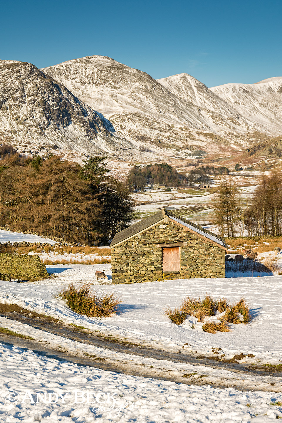 The Kentmere valley in winter