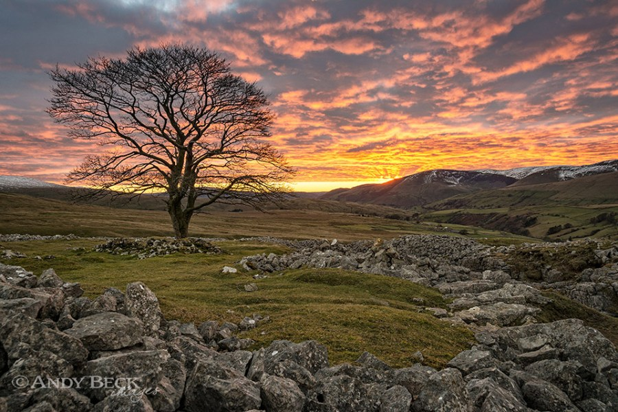 Sunset at Fell End