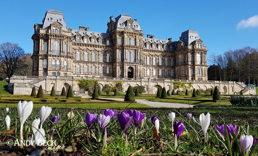 Bowes Museum in sunshine