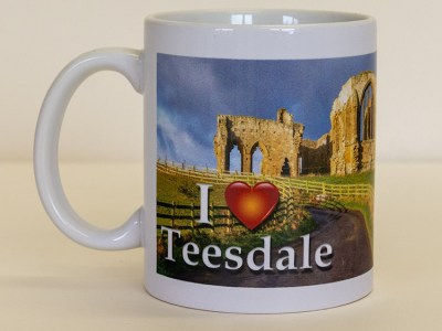 I Love Teesdale Egglestone Abbey mug