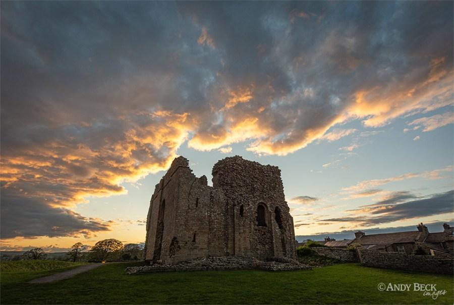 Bowes castle sunset