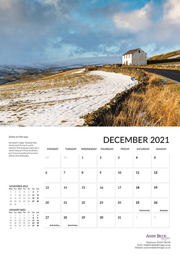 Teesdale calendar 2021 December