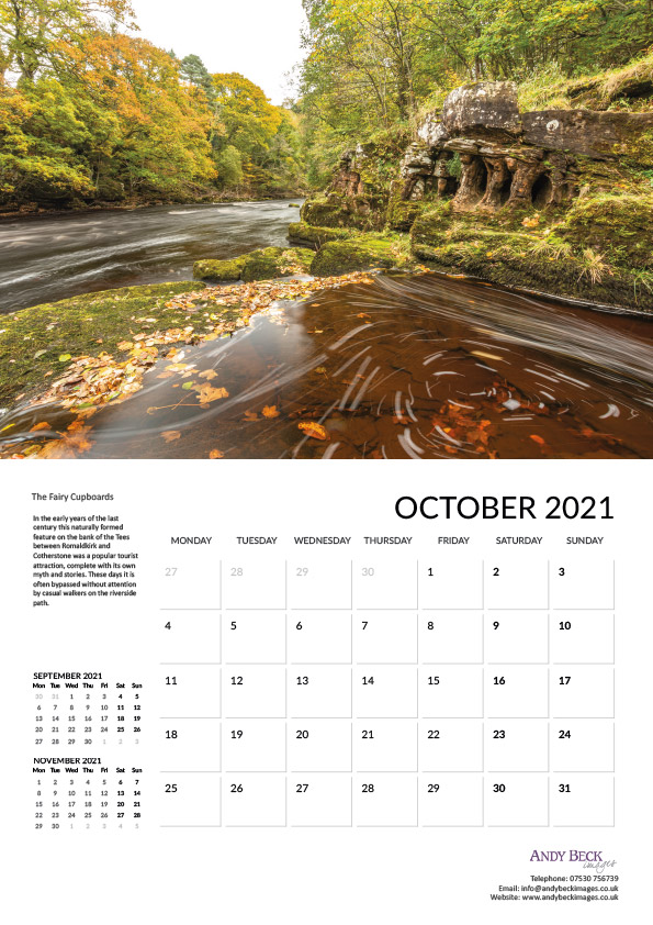Teesdale calendar 2021 Oct
