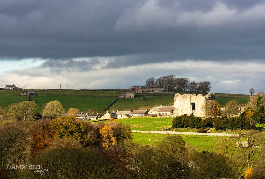 Bowes Castle, caught in the light