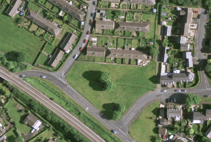 Seven bungalows proposed for green space at the bottom of Charlton Rise
