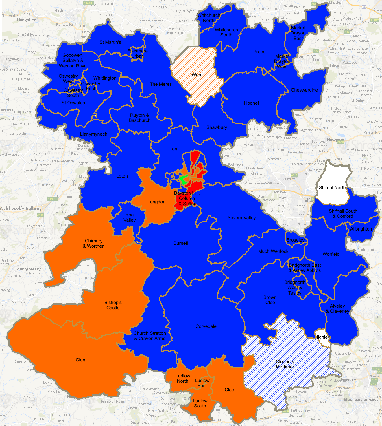 Shropshire Council Elections 2017: UKIP vote collapses as Conservatives gain 7%