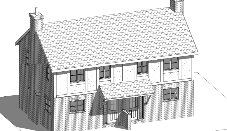 Two new houses planned for the historic Bullring, Ludlow