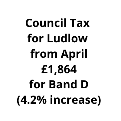 Council tax to rise overall by 4.2% for Ludlow residents from April