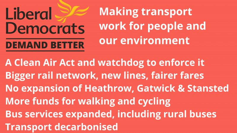 Election: Lib Dems making transport work for people and the environment