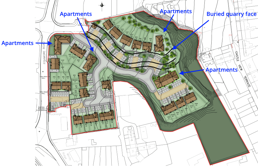 Seventy-one new homes approved at Fishmore Road Quarry in Ludlow