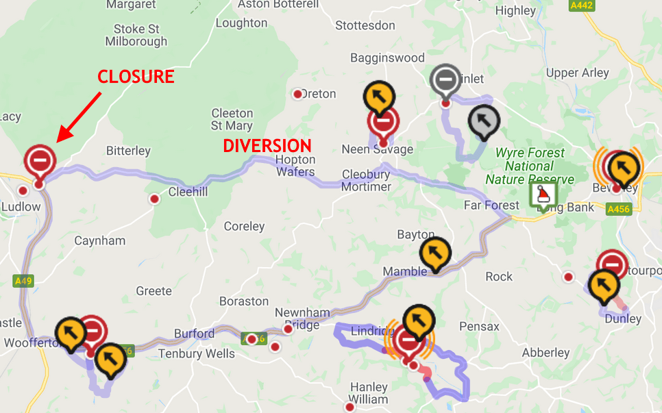 Severn Trent closure of A4117 will halt buses and cut off communities for the next three days from this morning (updated)