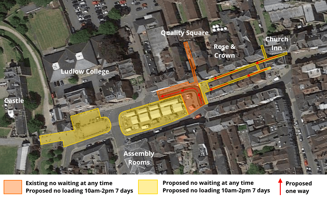Ludlow Town Council to discuss plans for prohibition of parking in the market area tomorrow night